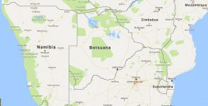 Superficie del territorio de Botsuana
