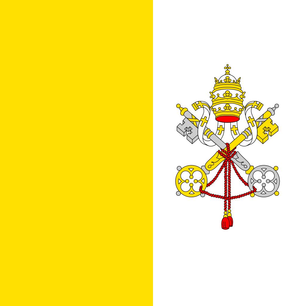 Bandera de Ciudad del Vaticano