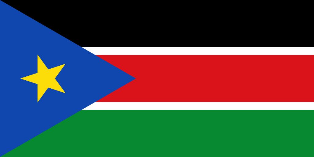 Bandera de Súdan del Sur