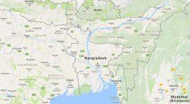 Superficie del territorio de Bangladés
