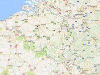Superficie del territorio de Bélgica
