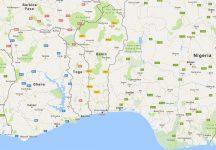 Superficie del territorio de Benín