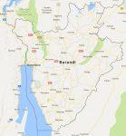 Superficie del territorio de Burundi