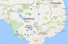 Superficie del territorio de Camboya