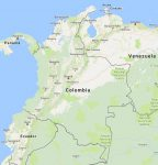 Superficie del territorio de Colombia