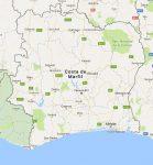 Superficie del territorio de Costa de Marfil