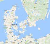 Superficie del territorio de Dinamarca