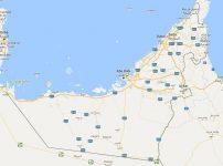 Superficie del territorio de Emiratos Árabes Unidos