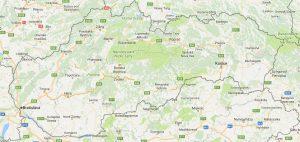 Superficie del territorio de Eslovaquia