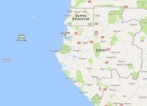 Superficie del territorio de Gabón