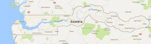 Superficie del territorio de Gambia