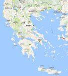 Superficie del territorio de Grecia
