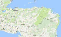 Superficie del territorio de Honduras