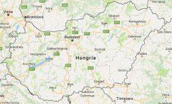 Superficie del territorio de Hungría