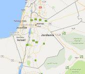 Superficie del territorio de Jordania