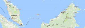 Superficie del territorio de Malasia