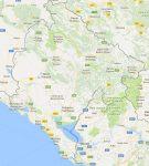 Superficie del territorio de Montenegro