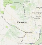 Superficie del territorio de Paraguay