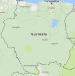 Superficie del territorio de Suriman
