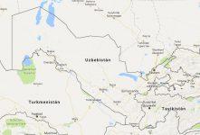 Superficie del territorio de Uzbekistán