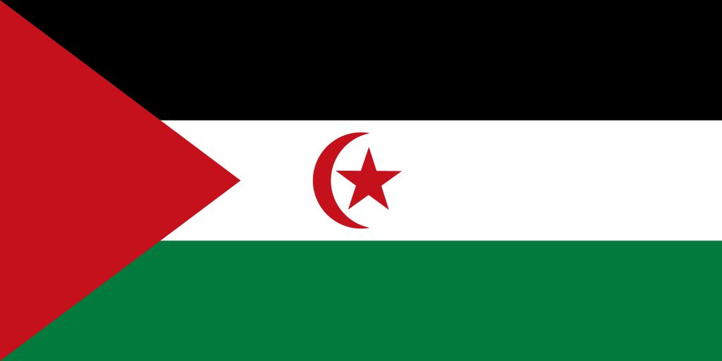 Bandera de República Árabe Saharaui Democrática
