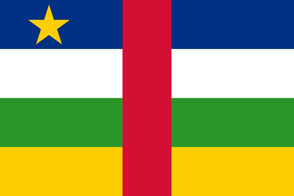 Bandera de República Centroafricana