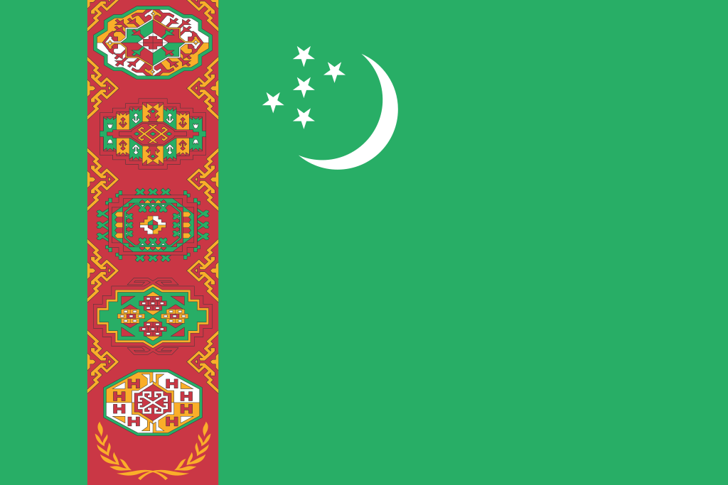 Bandera de Turkmenistán